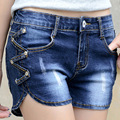 Women's Shorts New Arrival Denim Zipper Fly Mid Regular Solid Fashion Natural Color Thin Flat Ladies Shorts