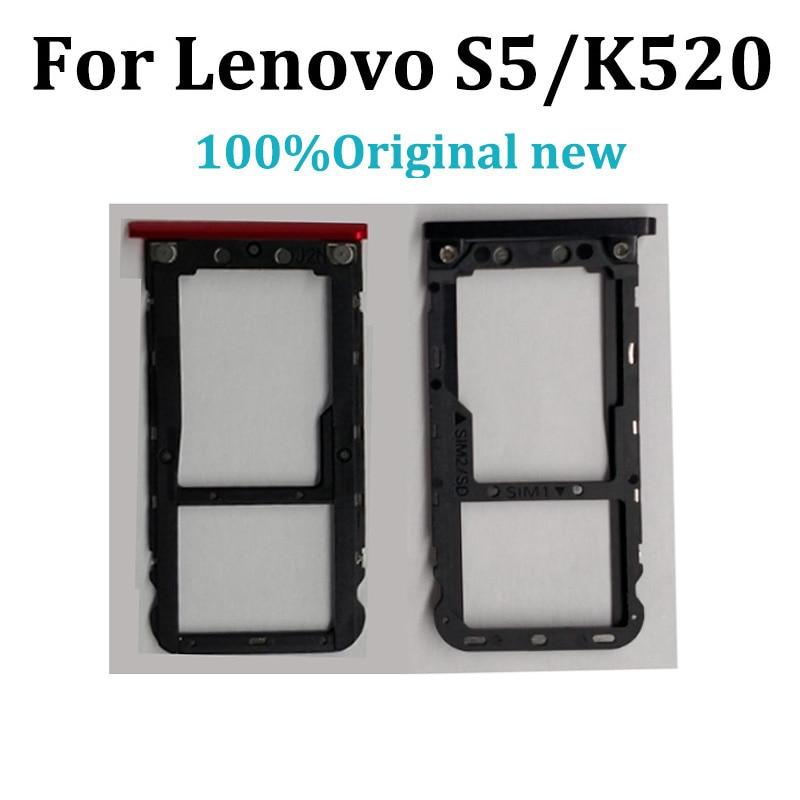 Original For Lenovo S5/K520 Sim Tray Holder For Lenovo K 520 Card Reader Tray Holder Slot For Lenovo S 5 Replacement Parts