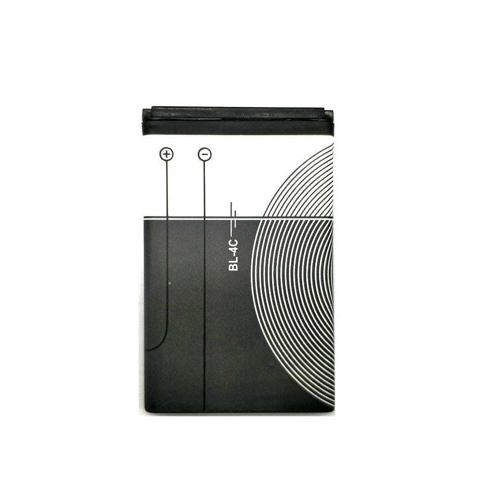 2 шт./лот 1200 мАч Новый BL-4C BL4C BL 4C Батарея для Nokia 1202 1265 6100 6300 6125 1325 1506 1508 1661 1706 2220s 2228 чехол для телефона