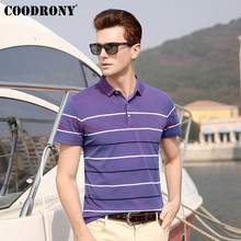 COODRONY T Shirt Men Spring Summer Cool Short Sleeve Tee Homme Streetwear Fashion Striped Design Casual T-Shirt S95071