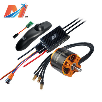 Maytech electric accessories 5055 70kv and VESC based controller and wireless mini remote for electric skateboard kit