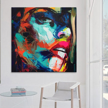 francoise nielly paintings portrait Palette knife Face Oil painting Impasto figure on canvas Hand painted