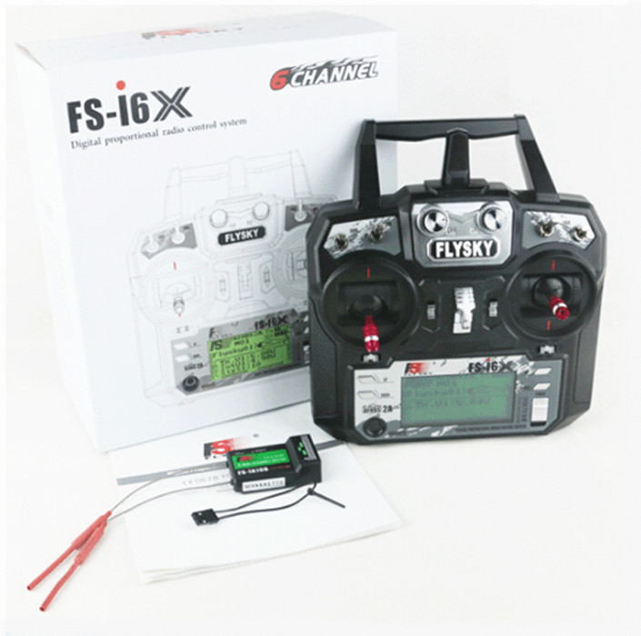 Original Flysky <font><b>FS</b></font>-i6X 2.4GHz 10CH Transmitter RX With i-BUS IA6B/ IA10B/<font><b>X6B</b></font> Receiver For RC Quadcopter Airplanes Drone F20424 image