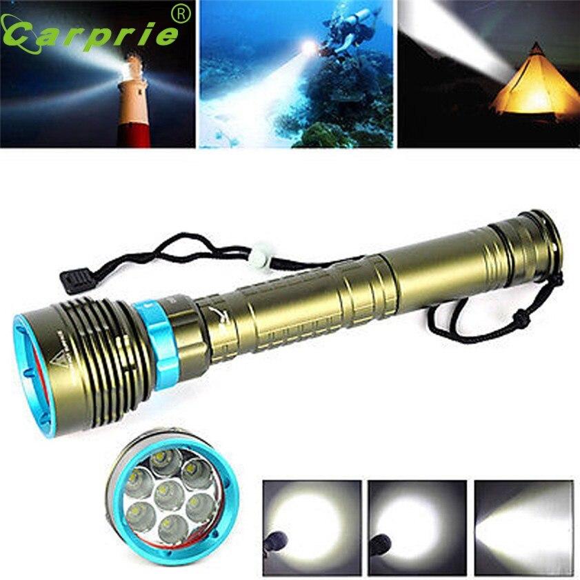 ФОТО Super Underwater 200m 20000LM 7x XM-L2 LED Scuba Diving Flashlight 3X18650/26650 Torch 170331