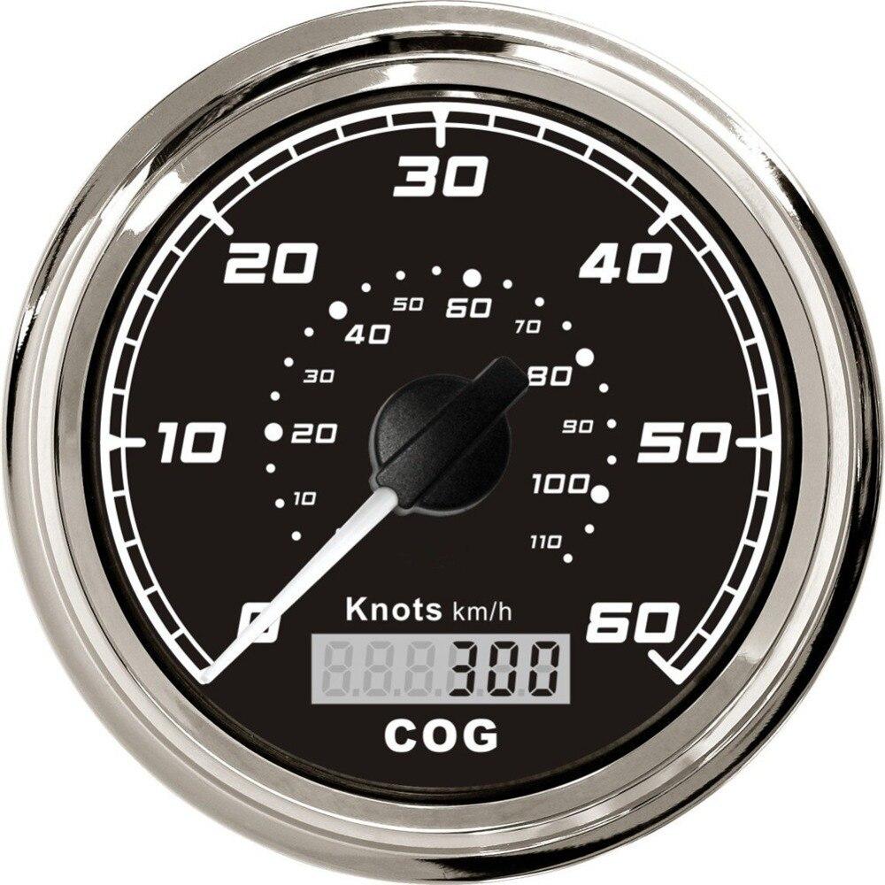 Купить 1 шт. Высокое качество 85 мм спидометры GPS 0 60knots ...
