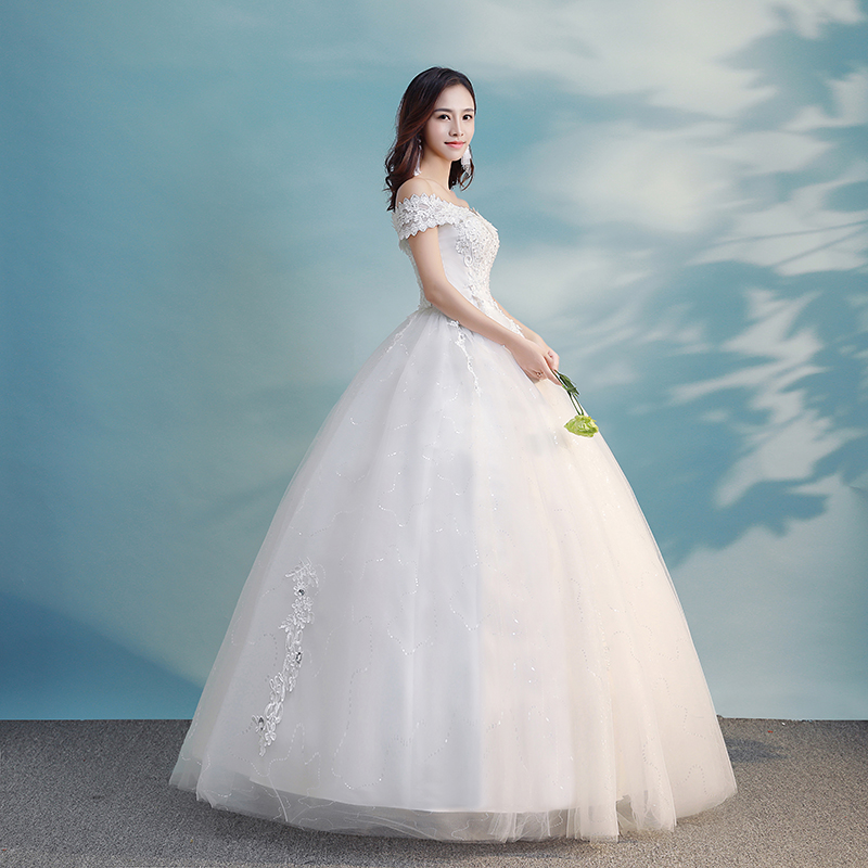 Beauty Emily Wedding Dresses 2018 Elegant White Boat Neck Short ...