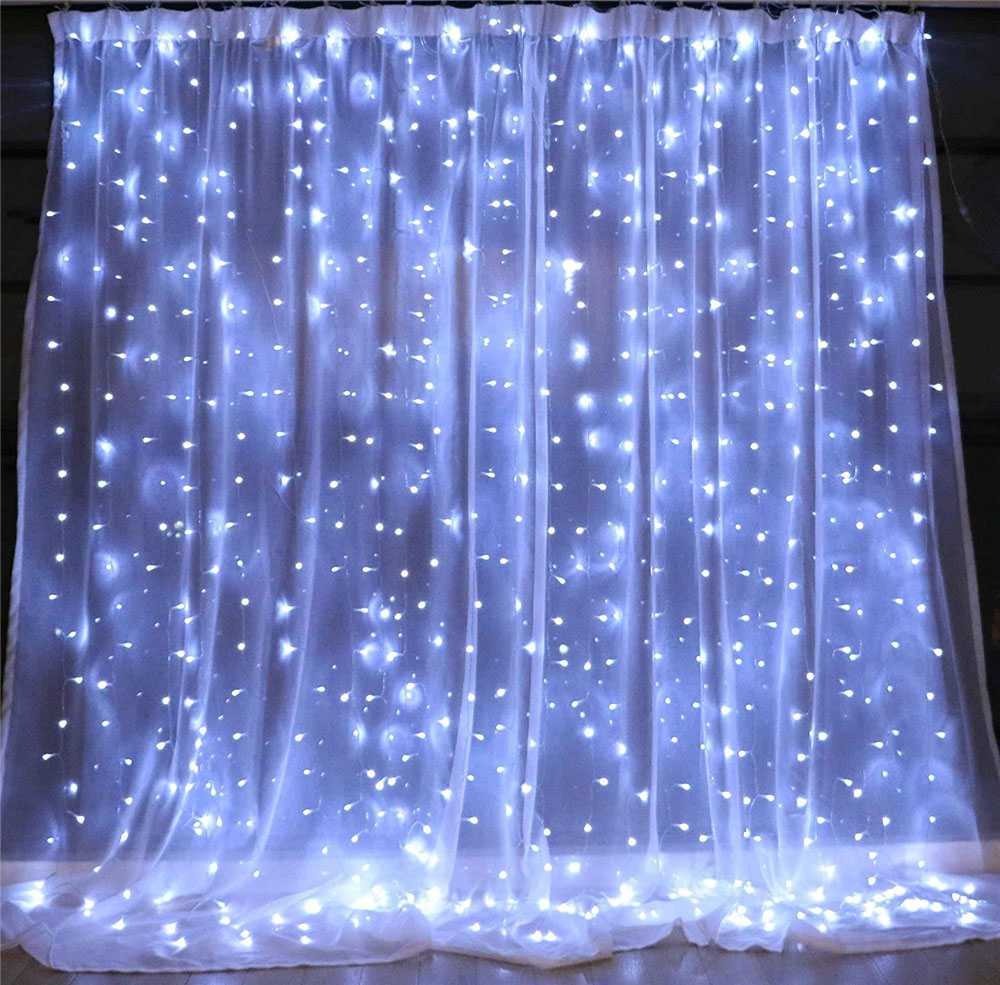 304 led window curtain string light wedding party home