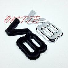 ABS Zinc Alloy 3D V8 Engine Displacement Car Badge V8 Emblem Logo Sticker V8 Auto Car