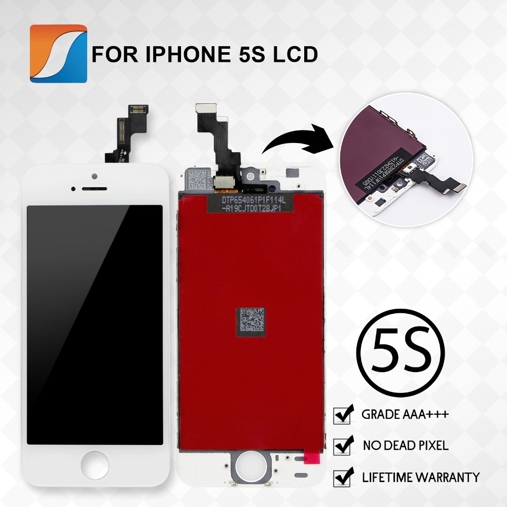 Guarantee 20PCS LOT Screen Replacement For iPhone 5S LCD Assembly With Touch Digitizer Original Quality 100