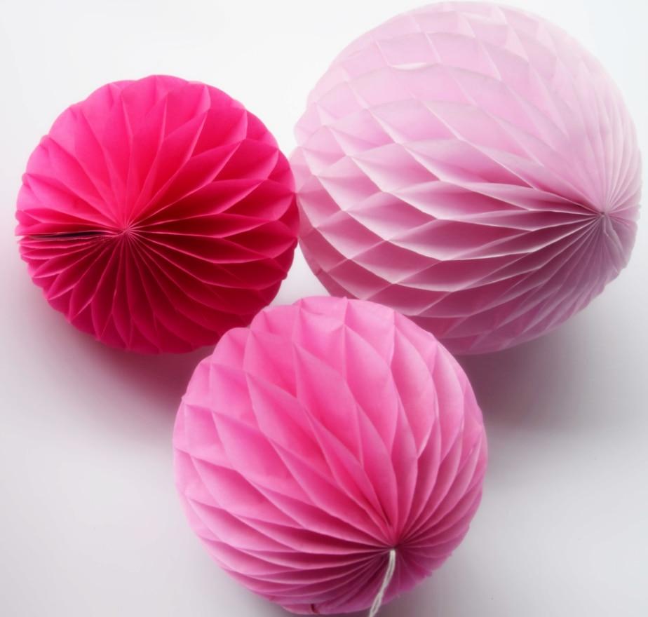 Zauberartikel & -tricks 30pcs Chic Tissue Hanging Paper Multi Usage Spherical Heads Light Pink 15cm