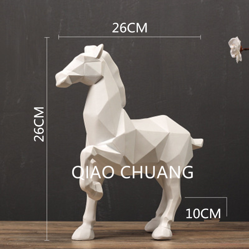 Sample House Origami Geometry Horse Soft Adornment Creative Colophony Crafts Home Furnishing Articles G799