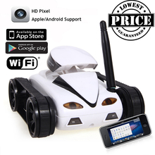RC Mini Tank Car IOS Android Phone Remote Control 777-270 Wifi Spy Tanks Shoot Robot With 0.3MP Camera Toys For Children Adult