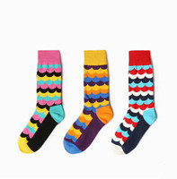 Wave Gradient Socks For Men British Compression Stockings Colorful Long Socks Male Calcetines Hombre Deporte Chaussette