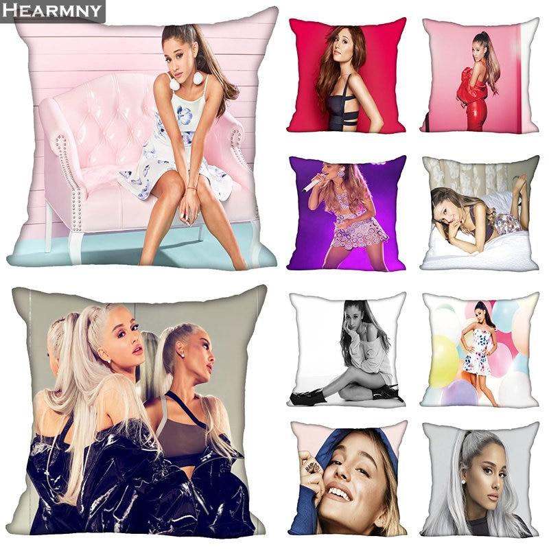 New Arrival Ariana  Grande Pillow Cover Bedroom Home Office Decorative Pillowcase Square Zipper Pillow Cases Satin Soft No Fade