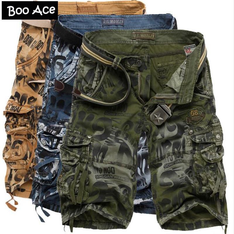 Heren Camouflage Korte Broek.Us 43 74 2016 Letters Camo Mannen Leger Cargo Werk Casual Bermuda Camouflage Shorts Mode Heren Korte Broek Pantalones Cortos 5 Kleuren In 2016