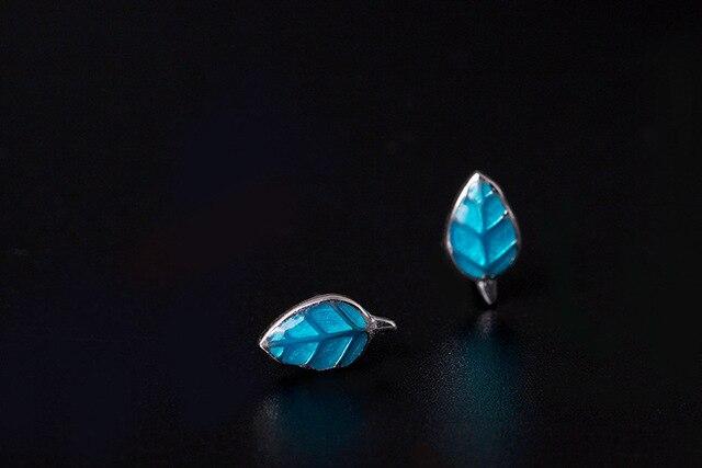 Женские серьги flyleaf из серебра 100% пробы с синими эмалью