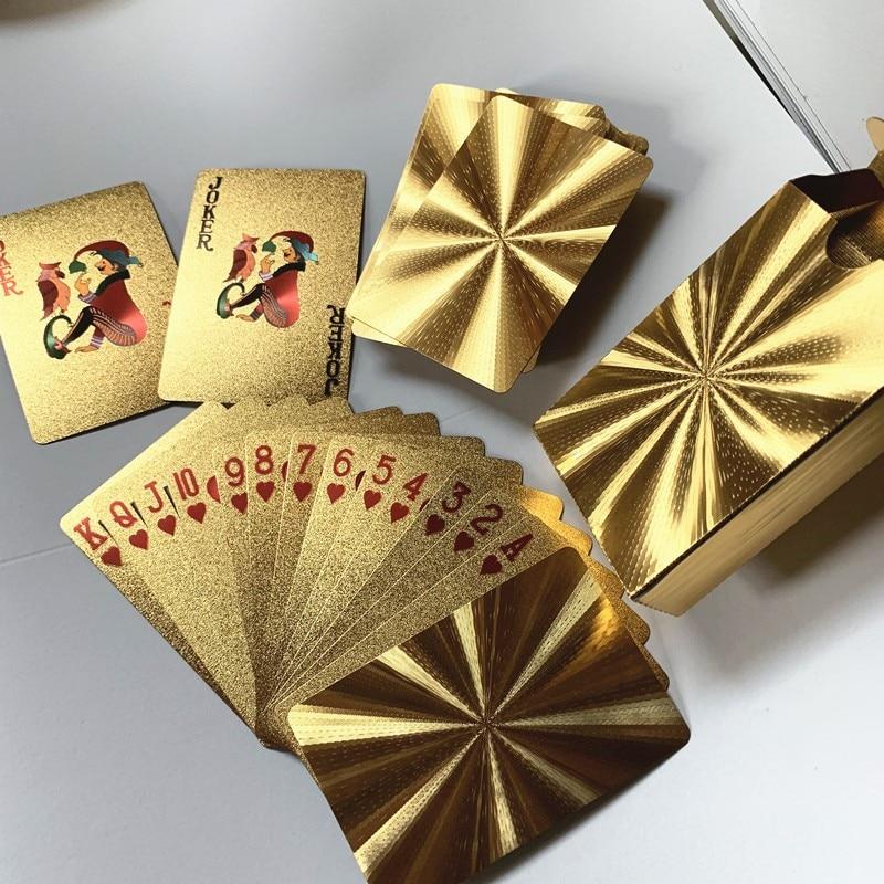 Quality Waterproof PVC Plastic Playing Cards Set Trend 54pcs Deck Poker Classic Magic Tricks Tool Pure Black Magic Box-packed