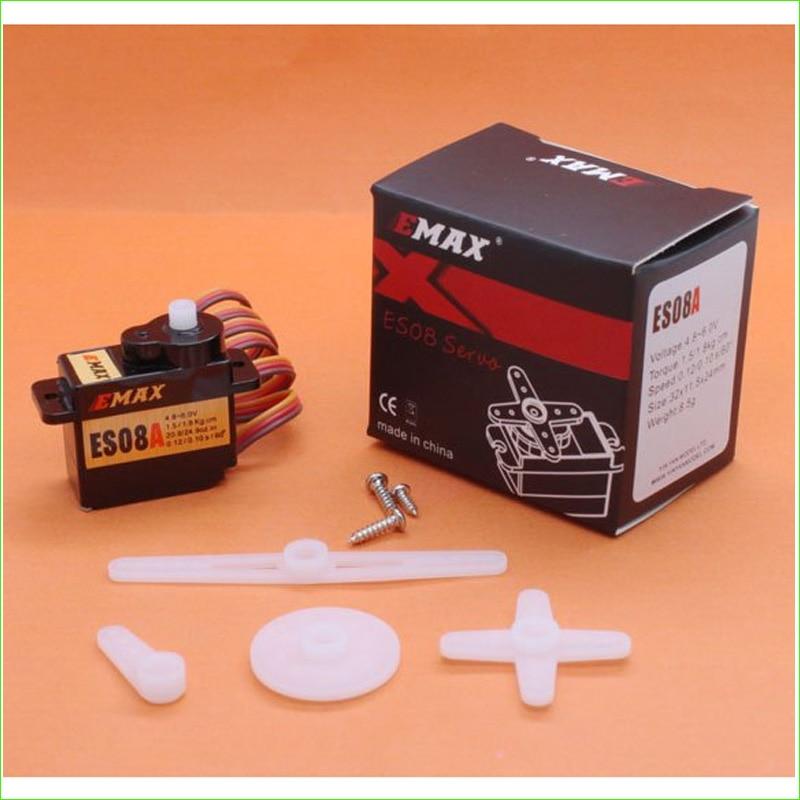 1pcs EMAX 8g High Sensitive Mini Servo Type ES08A with retail box