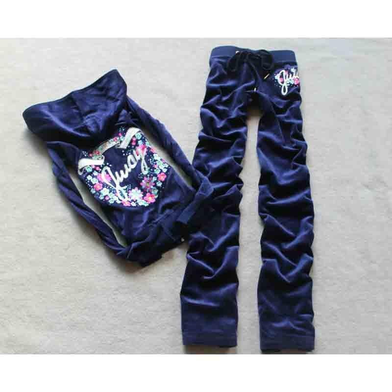 Spring Autumn 2019 Women s Brand Tracksuit Velvet Cloth Women s Suit Velor Tracksuit Sweatshirts Pants