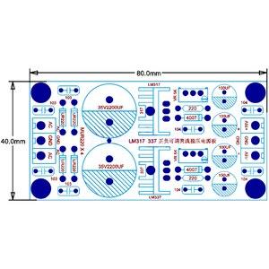 Image 3 - Lusya diy lm317 lm337 dc 조정 가능한 전원 공급 장치 모듈 보드 포지티브 및 네거티브 조절 가능