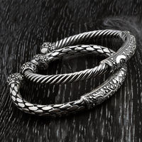 Gagafeel Authentic 925 Sterling Silver Weave Beacelets & Bangles for Men Women Vintage European Opening Thai Sliver Bracelets