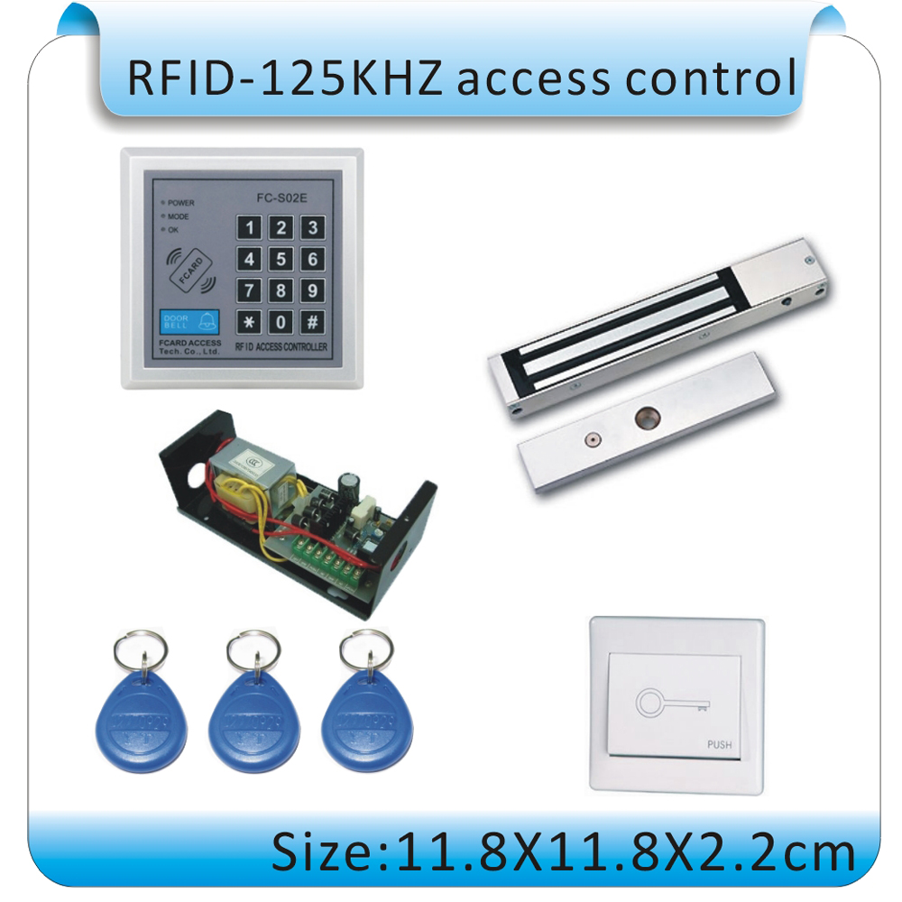 Access control access /magnetic lock se/t password lock /wooden door access control+10PCS card 125kHZ access control mg236b