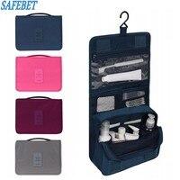 Fashion Unisex Cosmetics Kit Clear Travel Storage Bag Cosmetics Carry Toiletry Organizer For Traveling Bathroom Washing