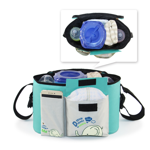 New Multi-function Baby Stroller Hang Bag Organizer Waterproof Mummy Travel Thermal Care Diaper Nappy Bags Cart 2