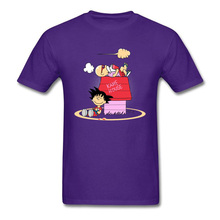 Men T Shirt Anime Purple T-shirt Male Dragon Ball Tshirt Z Cartoon Tops Casual Tees Discount Master Peanuts Gift T-shirts Japan