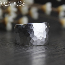 999 Silver Ring Bands For Men Personality Thai Silver Wide Ring Retro Fashion цена