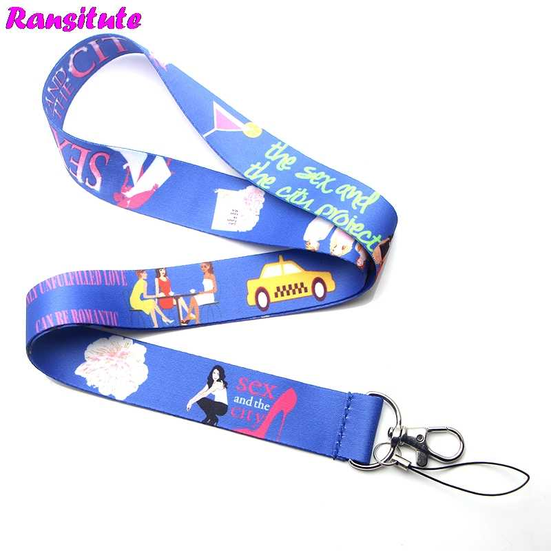 Ransitute R243 مثير مدينة مفتاح الحبل ID شارة حامل الحيوان الهاتف الرقبة حزام مع كيرينغ معاطف للأطباء والممرضات ID الحبل