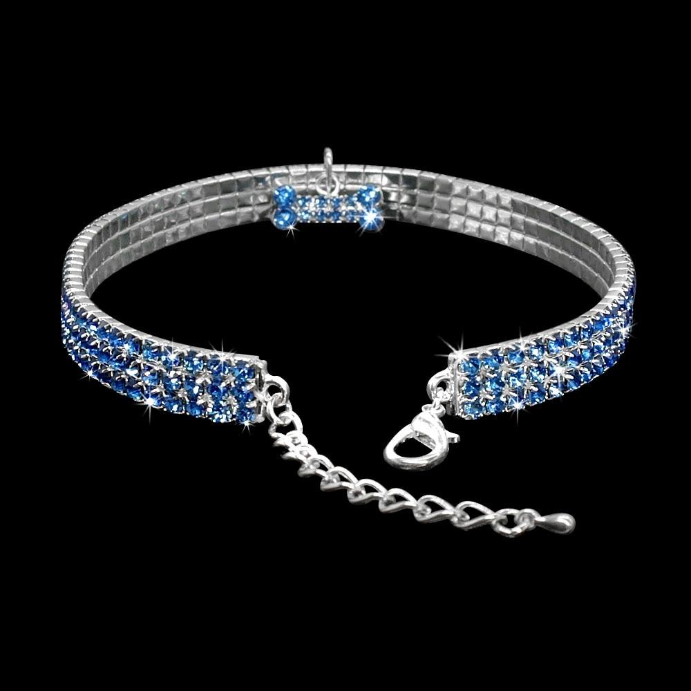 collier avec diamant pour chien