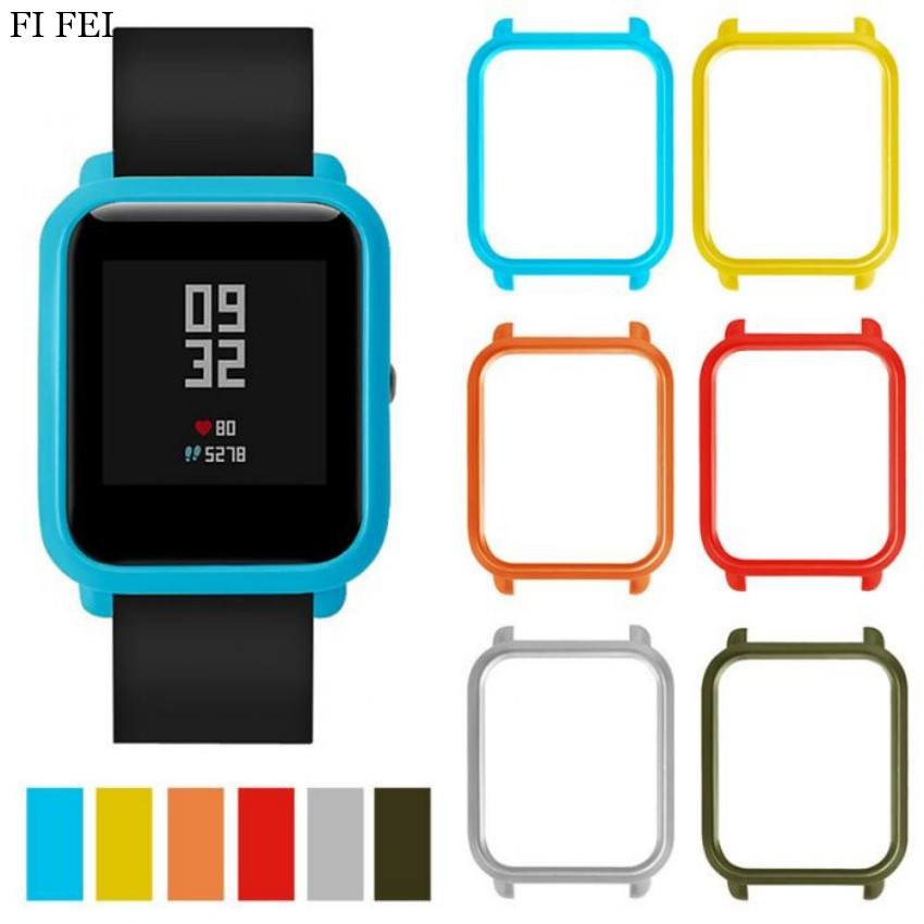 FI FEI Protective Case Cover for Xiaomi Amazfit Bip BIT PACE Lite Youth Watch Hard PC Shell for Huami Amazfit Watch Accessories mijobs 20mm silicone wrist strap protective case cover plastic pc shell for huami xiaomi amazfit bip bit pace lite smart watch