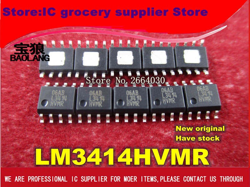Free Shipping 100PCS LM3414HVMR L3414HVMR LM3414 LM3414 SOP8 Original authentic and new in stock