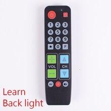 21 버튼은 TV VCR STB DVD DVB 박스 용 백 라이트, 빅 버튼 컨트롤러로 리모컨을 배웁니다.