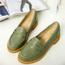 Spring 2015 New England retro shoes round singles shoes thick with small buckle College Wind casual shoes w319
