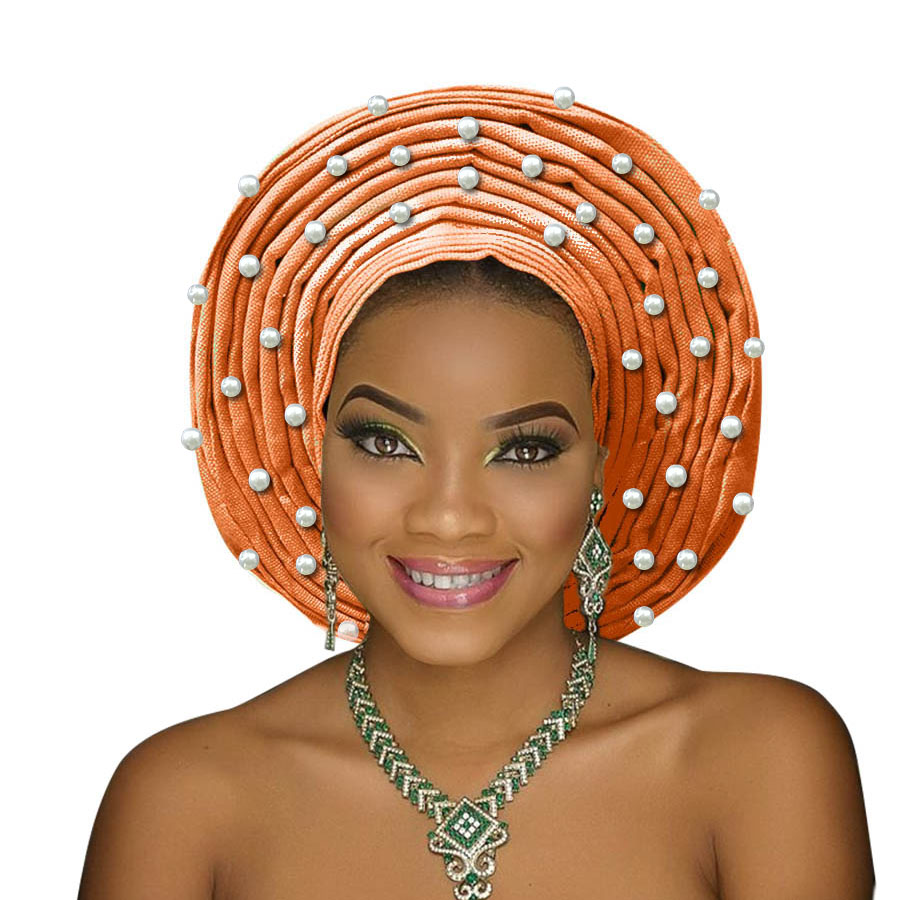 african headtie aso oke gele headtie african head wrap fashion nigerian aso ebi gele turban women aso oke head gear (2)