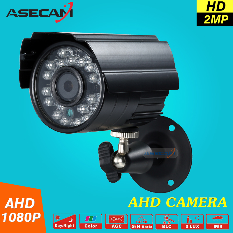 Hot 2MP HD CCTV 1080P AHD Camera 3000TVL Outdoor Waterproof Mini Small Metal Black Bullet IR Security Surveillance Cam wistino cctv camera metal housing outdoor use waterproof bullet casing for ip camera hot sale white color cover case