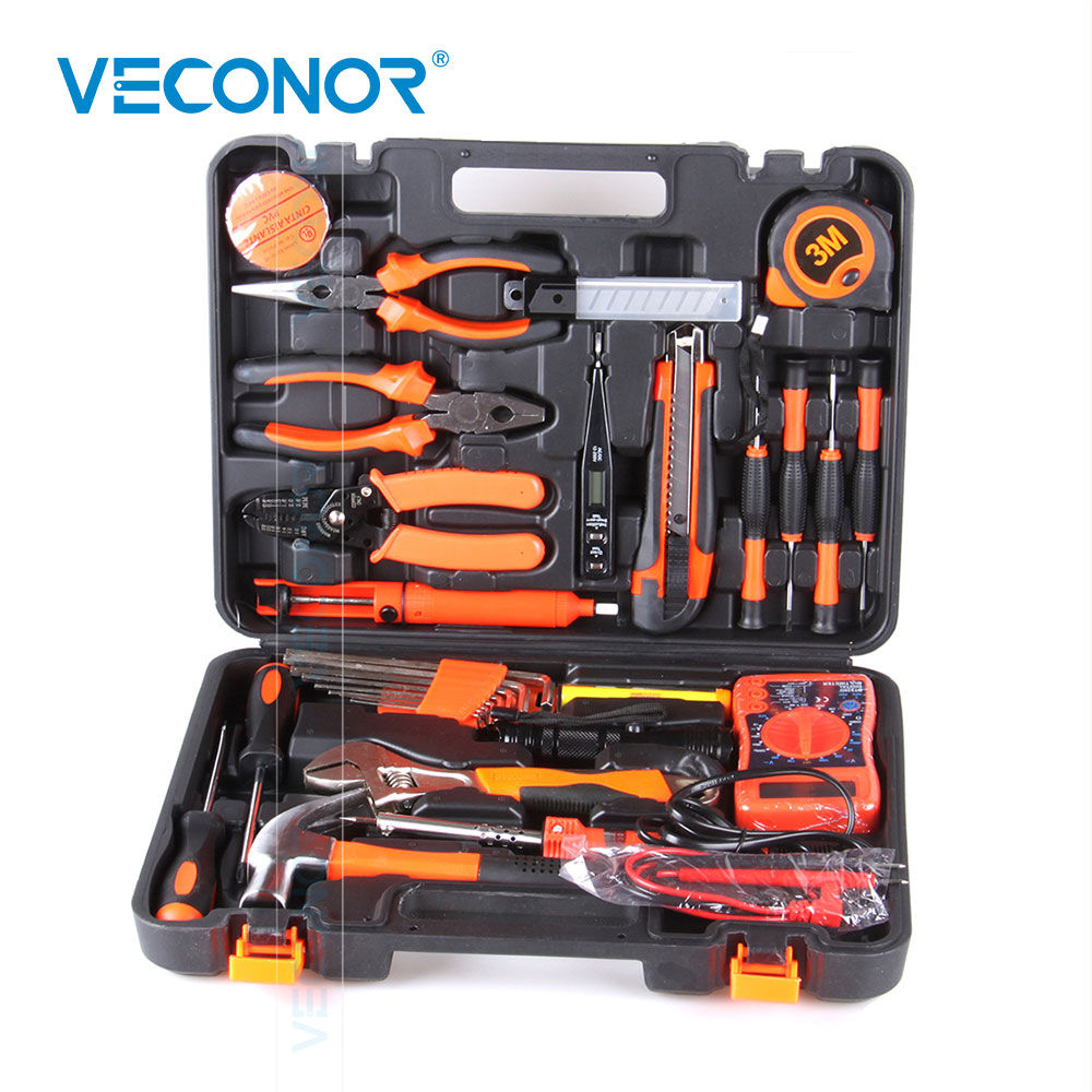 0379009aef0f 35pcs Electrician Hand Tool Set Kit Household Tool Kit Saw Screwdriver  Hammer Tape Measure Wrench Plier