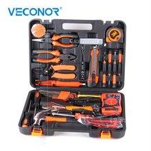 Juego de herramientas de mano para electricista, utensilio doméstico, sierra, martillo destornillador, cinta métrica, alicate de llave, 35 Uds.