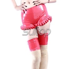 Suitop latex undershort sexy hot pants for women(China)