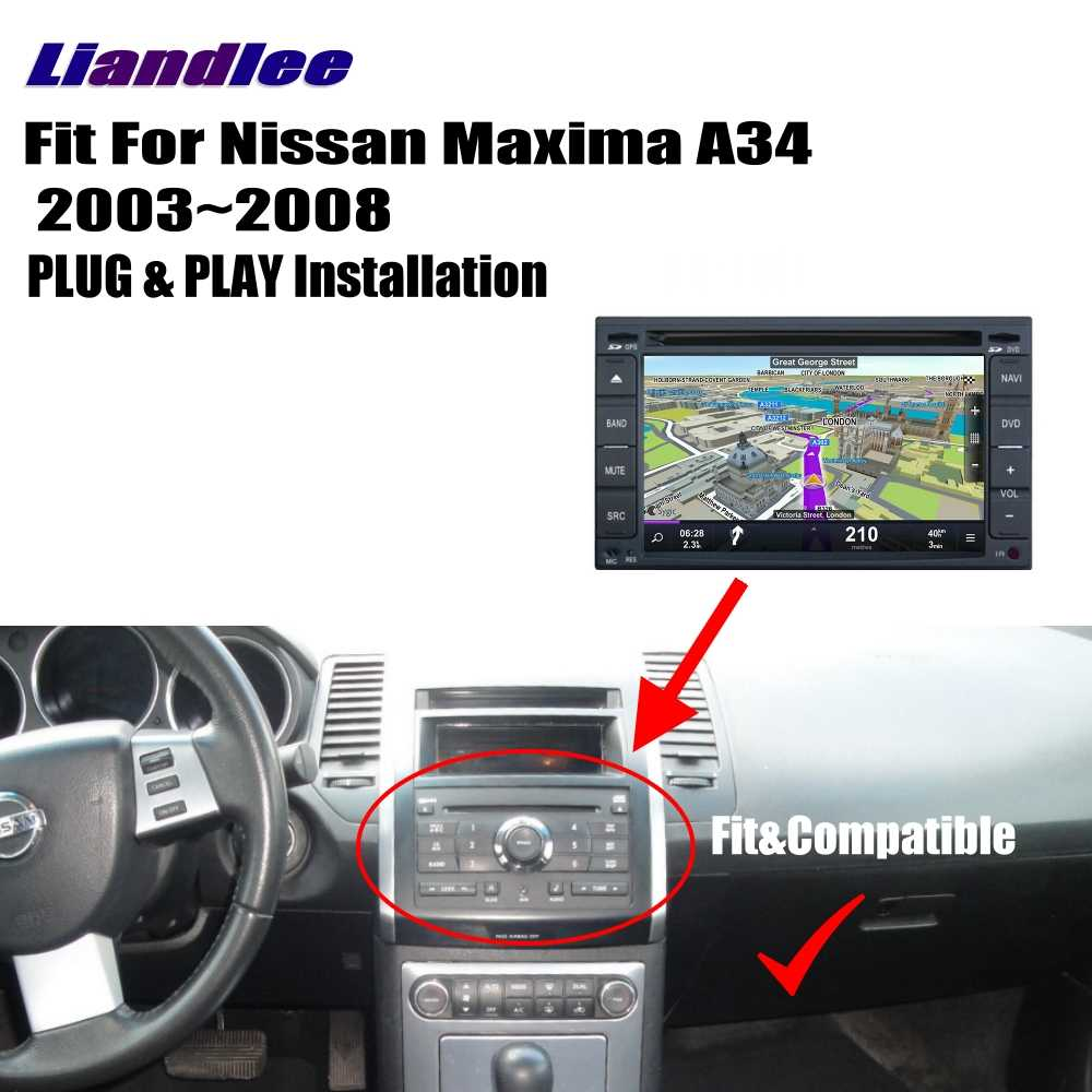 hight resolution of  liandlee for nissan maxima a34 2003 2008 android car radio cd dvd player gps navi