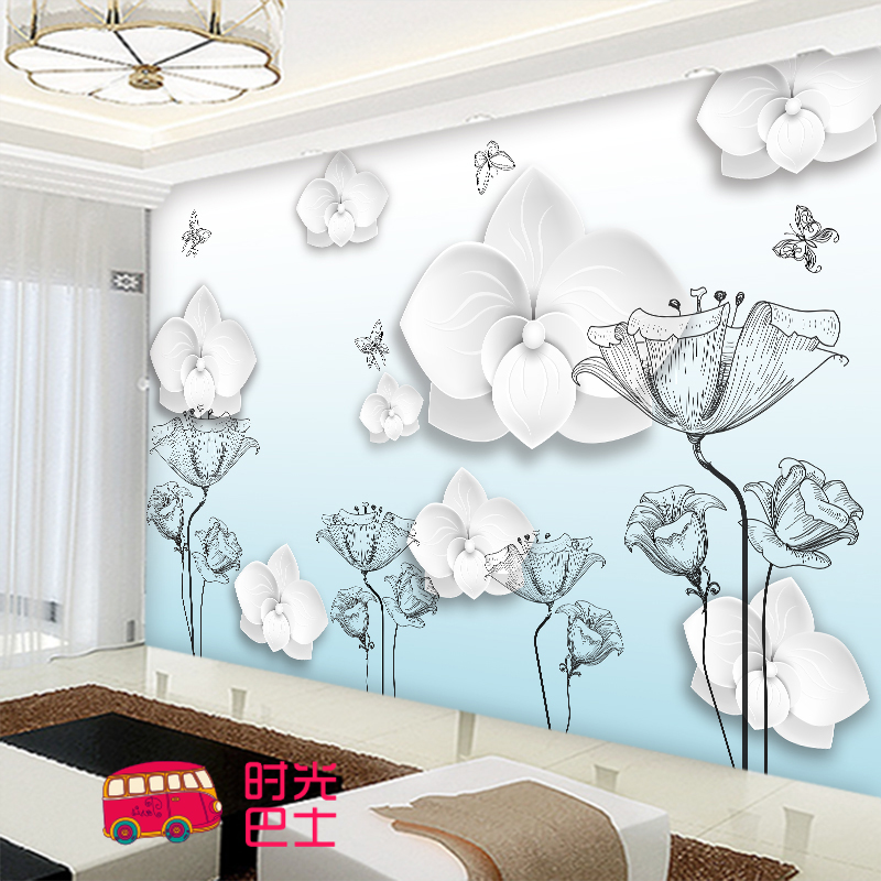 Free Shipping 3D stereo custom personalized wedding room mural bedroom bedside background wallpaper Butterfly mural free shipping personalized fashion figure puzzle 3d wallpaper salon bedroom wallpaper background bar ktv mural