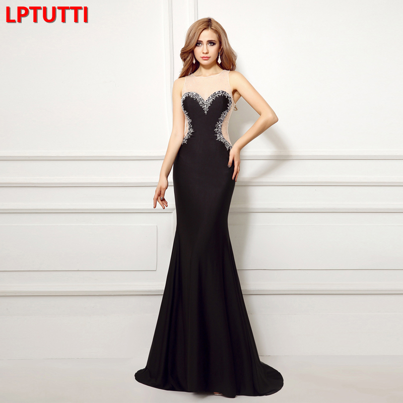 LPTUTTI Crystal New For Women Elegant Date Ceremony Party Prom Gown Formal Gala Events Luxury Long Evening Dresses