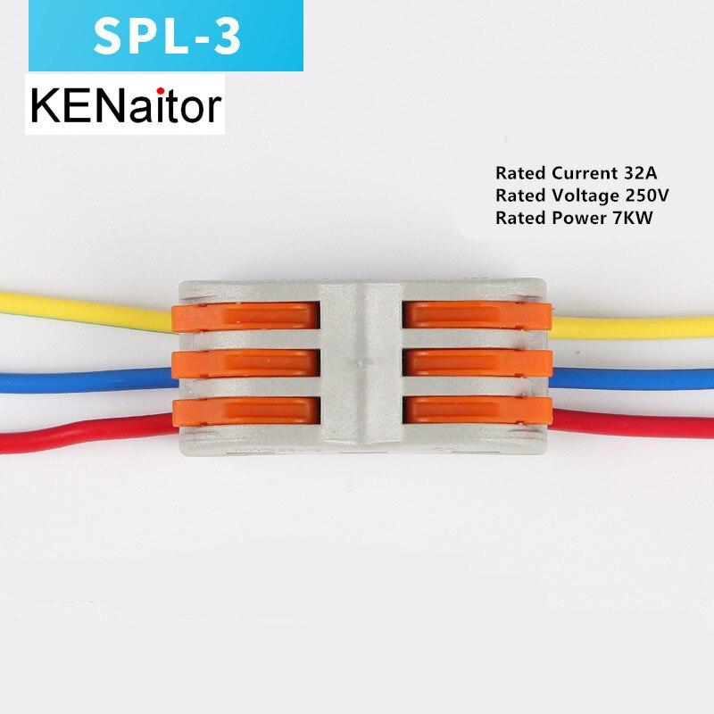 Bloque de terminales 10pcs Conectores de bloque de terminales de lat/ón tornillo de cable de distribuci/ón el/éctrica de dise/ño de puente de 7 agujeros