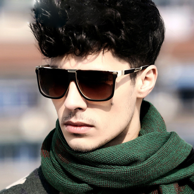 Top Sunglasses For Men  dolce vision male vintage square sunglasses men grant lens