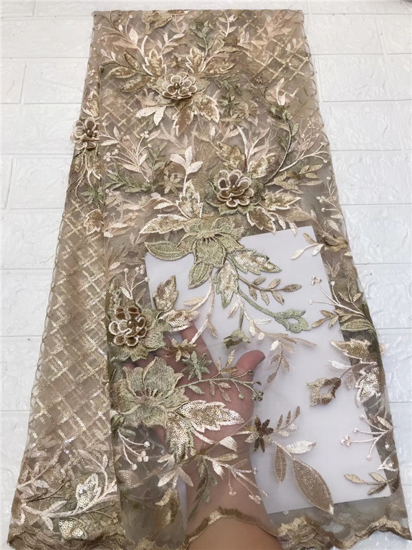 Novelty 3d French Lace With Sequins Applique 5 Yards/lot 2019 Latest Design African Lace Fabric For Wedding Dress Sequins Diversified Latest Designs Arts,crafts & Sewing Home & Garden