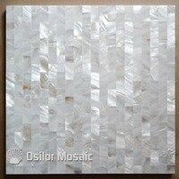 Biały kolor cegły wzór 100% naturalne Chiński masa perłowa płytki do dekoracji wnętrz domu płytki polerowane płytki powłoki ścienne
