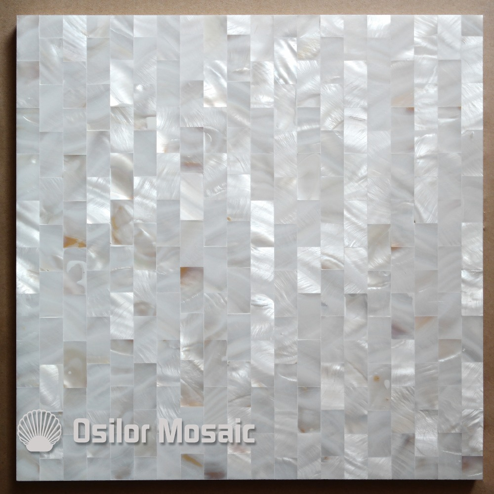 White color brick pattern 100% natural Chinese mother of pearl tile for interior house decoration polished shell tile wall tile brick pattern 100% blacklip sea shell natural black color mother of pearl mosaic tile for interior house decoration wall tiles
