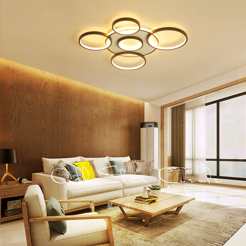Ceiling Lights & Fans Lights & Lighting Square Led Ceiling Lights Living Room Bedroom Remote Control Lamparas De Techo Moderna Gold Coffee Frame Home Fixtures